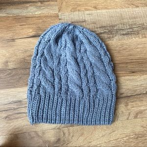 Blue-gray knit beanie